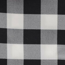 "BLACK & WHITE CHECKERED TABLECLOTH - 60"" x 60"" SQUARE - CHECKER PATTERN OVERLAY"