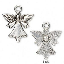 Angel Charm Antiqued Silver Guardian Pendant Jewelry Lot of 2