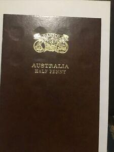 Dansco Australian Half Penny Coin Album 1911 to 1964  (with 28 coins)