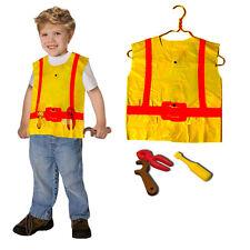 Construction Worker Kids Costume Pretend Role Play Construction Vest Tools Set