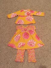 Baby Girl Size 12 Month Three Piece Boutique Outfit( Baby Lulu)
