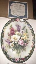 "Mk Lena Liu's Floral Cameos ""Remembrance"" Bradford Exchange Flowers 56161"