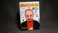 Memorandum - Woody Aragon Pro Mentalism Memorised Deck Book Forward by Max Maven