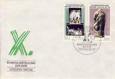 Ersttagsbrief DDR MiNr. 3125, 3126, Kunstausstellung der DDR, Dresden
