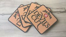 Set of 4 Jim Beam Devils Cut pvc rubber Drink Coasters bar mat runner barmat