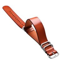 Fashion Luxury 20mm 22mm Leather Strap Belt Wrist Watches Brown Men Women