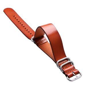 Fashion Luxury 20mm 22mm Leather Strap Belt Wrist Watches Brown Men Women
