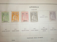 (Lot of 5) 1922-25 Angola Portugal Ceres Roman Goddess Unused Hinged Stamps