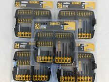 NEW Dewalt DW2153 Impact Ready Accessory Set, 34-Piece Bit Set ( 5 Pack)