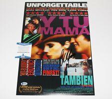 Director Alfonso Cuaron Signed 'Y Tu Mama Tambien' Movie Poster Beckett Coa Bas