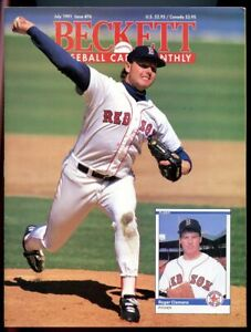 Beckett Baseball Card Monthly #76 July 1991 Roger Clemens Boston Red Sox VG