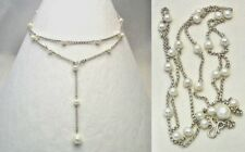 Pearl Lariat Necklace Comes in 6 Other Gemstones ~ Mix Match ~ Hand Made ~  DKC
