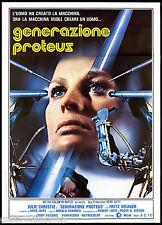 GENERAZIONE PROTEUS MANIFESTO FILM FANTASCIENZA 1977 DEMON SEED MOVIE POSTER 2F