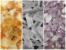 1/4 lb Lot Bulk Mixed Amethyst Citrine & Clear Quartz Crystal Points Collection