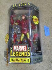 "Toy Biz Marvel Legends Lot ICONS MODERN IRON MAN GOLD ARMOR VARIANT Figure 12"""