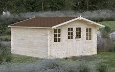 44 mm Gartenhaus 4x4 m Gerätehaus Blockhaus Holzhaus Restposten Holz