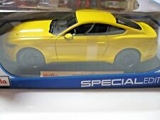 MAISTO 1:18 SCALE 2015 FORD MUSTANG GT 5.0 DIECAST CAR YELLOW