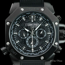 TechnoSport 44mm Swiss Quartz Multifunction Aviator Silicone Strap Watch