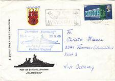 """Zerstörer """"Hamburg"""" Schiffspoststempel 1969   viele weitere SST in meinem Shop"""