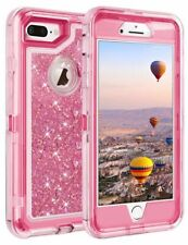 For iPhone 5s Glitter Case Heavy Duty Cover + Belt Clip - Light Pink