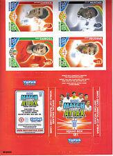 match attax 2010 world cup squad box plus 4 cards.