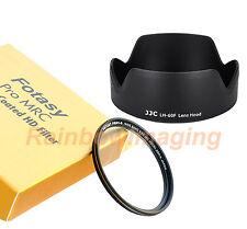 JJC Lens Hood AS EW-60F & 55mm MRC UV Filter CANON EF-M 18-150mm f3.5-6.3 IS STM