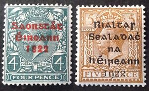 Ireland 1922 2 x Stamps mint hinged