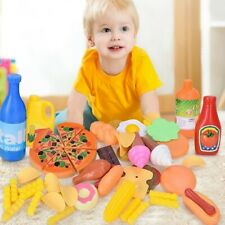 Kids Educational Food Cutting Toy Set Role Play Pretend Kitchen Gifts
