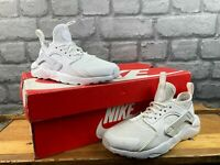NIKE AIR HUARACHE ULTRA BREATHE WHITE TRAINERS MANY SIZES CHILDRENS BOYS GIRLS