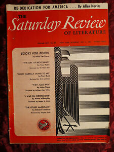 SATURDAY REVIEW July 3 1943 ALLAN NEVINS MARK VAN DOREN