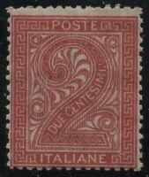 1863 REGNO DE LA RUE CENT.2 TORINO T15 G.I. MNH**