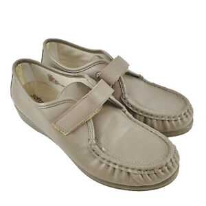 Softspots Grey Hook & Loop Closure Leather Casual Shoes Womens Size US 10W SE14