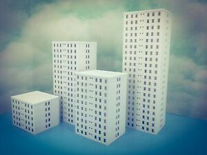 20 Floor OFFICE city LUXURY APARTMENT Building - Z Scale 1:220 - Fully Assembled