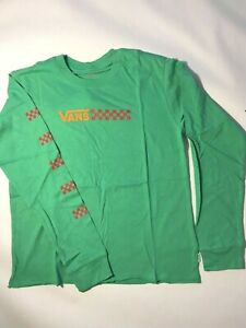 Vans New Glory Daze Long Sleeve Marine Green T-Shirt Youth Girl's Medium (10-12)