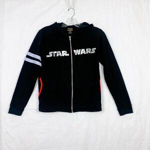 Disney Parks Star Wars Hoodie M Medium Black Full Zip Pockets Soft Fleece
