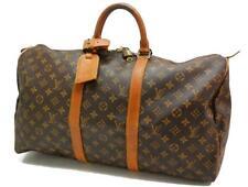 Authentic LOUIS VUITTON  MONOGRAM  KEEPALL 50 DUFFLE BAG VI864 0331a