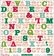October Afternoon ~ VERY MERRY ~ 12x12 Alphabet Stickers