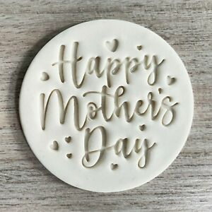 Happy Mother's day Fondant Embosser or Cookie Stamp Mothers day Icing Frosting