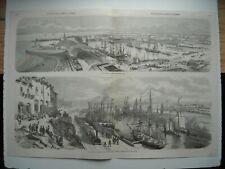 GRAVURE 1857. OUVERTURE DE LA LIGNE DE CHEMIN DE FER SAINT-NAZAIRE A NANTES.....