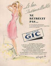 ▬► PUBLICITÉ ADVERTISING AD Tissu GIC 1952