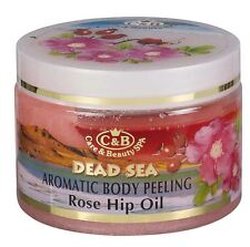 Dead Sea,C&B, Care & Beauty, Aromatic Body Peeling Rose Hip Oil, 350ml