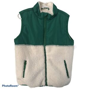 NWT New Boys' JANIE AND JACK Vest Size US 5 - 6 EUR 110 - 116 cm Faux Shearling