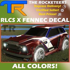 [PC] Rocket League Every RLCS X [Fennec] Limited Decal Grey Crimson etc.