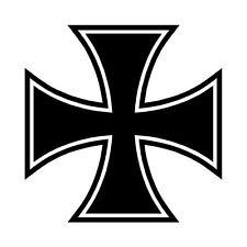 Maltese Cruz Amalfi Cruz Pegatina Gráfica Vinilo Etiqueta V2 Negro