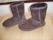 Botas ugg talla 4.5 Marrón Gamuza usado 5825 Tobillo Zapatos De Chicas Mujer Damas Peludo