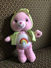 Cheer Bear Care Bear 9� 2007 Pink Rare Find Frog Raincoat Special Edition Happy