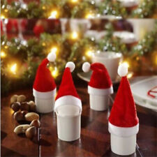 Stylish Tiny Christmas Santa Hats Cup Bottle Cover Christmas Crafts Accessories
