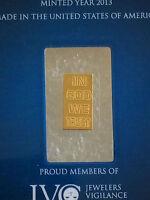 Noble Mint sealed   Bullion Bar  .999  pure gold  24 ct
