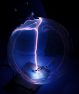 Hand Made Iodine vapor Plasma Ball science DIY Tesla gas discharge spectral tube