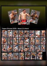 2019 TOPPS CHROME WAVE 2 SET OF 31 CARDS Topps UFC Knockout Digital Card